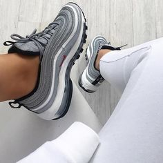 "#hypebaekicks: You have another chance to cop @nike's Air Max 97 ""Silver Bullet."" Find out when they restock on hypebae.com. Photo: @nawellleee"