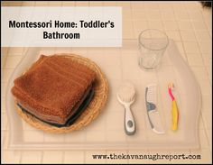 Montessori toddler bathroom from The Kavanaugh Report