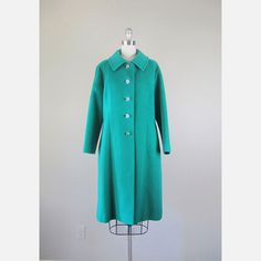 60s Cashmere Coat Kelly Green