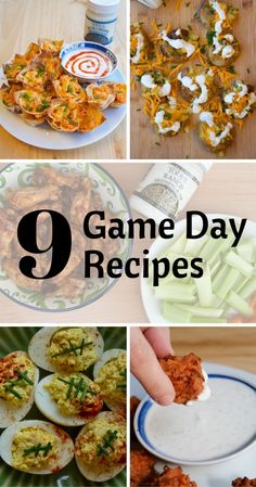 9 Easy Football-themed recipes & other game day essentials