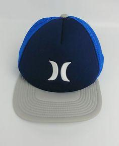 Hurley Mens Hat Blocked 2.0 Snapback Navy Blue Blue Gray  Hurley   BaseballCap 180bdb00c4b5