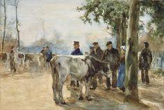 Willem de Zwart | De veemarkt, Willem de Zwart, 1872 - 1931 |