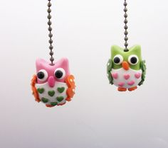 One Owl Ceiling Fan pull-  Your choice of colors