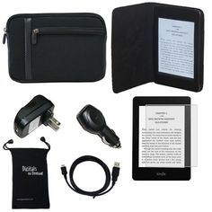 DigitalsOnDemand 7-Item Accessory Bundle for Amazon Kindle Paperwhite, 6 inch High Resolution Display with Built-in Light, Wi-Fi by DigitalsOnDemand. $24.99. Includes: DigitalOnDemand Micro Fiber Black Sleeve, DigitalsOnDemand Black Leather Case, Screen Protector, Wall Charger Adapter, Car Charger Adapter, USB Sync Cable Drawstring Travel Pouch. Save 69% Off!