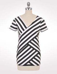 dressbarn/ Misses   Tops   Spliced Stripe Tee  