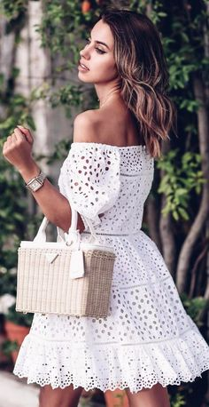 summer breaks white dress