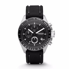 Fossil-Men-039-s-CH2573-Decker-Stainless-Steel-Chronograph-Watch-With-Black-Silicon