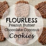 Flourless Peanut Butter Chocolate Coconut Cookies