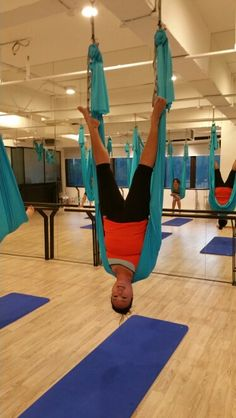 aerial yoga hammocks   aerial fabric acrobatics  see more  flying shoulder stand oh shoot  what is this called now   base jumper i think      rh   pinterest