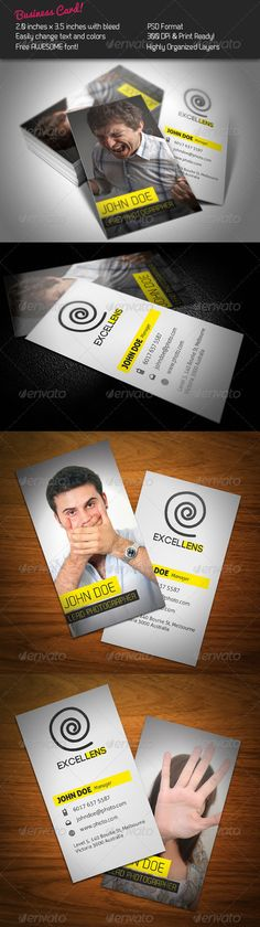Excellens Business Card — Photoshop PSD #creative #yellow • Available here → https://graphicriver.net/item/excellens-business-card/248591?ref=pxcr