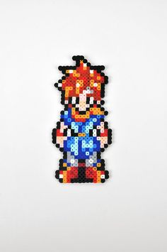 Crono from Chrono Trigger Magnet Perler Bead by TheCraftyChimera, $9.99