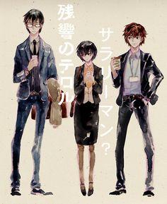 Zankyou no Terror, fan art: Terroristic Trio
