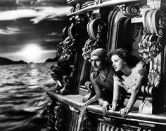 Tyrone Power y Maureen O'Hara en El Cisne Negro, 1942