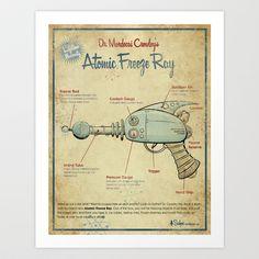 Atomic Freeze Ray Art Print by Michael Murdock - $20.80