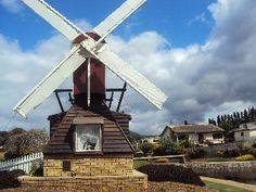 this is Tassie at the foot of a model windmill. Dutch Windmill, Windmills, Tasmania, Homeland, North West, West Coast, Penguin, Places Ive Been, Australia
