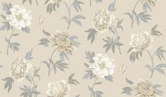 Ashton Peony Companion (AR200598) - Shand Kydd Wallpapers - A pretty floral trial shown in beautiful cream and metallic gold. This is a pre pasted product. Please request a sample for a true colour match.