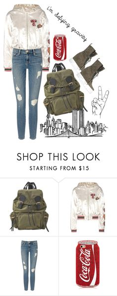 """""""New York City - 13 Days"""" by hannahluladybuggirl ❤ liked on Polyvore featuring Burberry, Tommy Hilfiger, Frame Denim and Casadei"""
