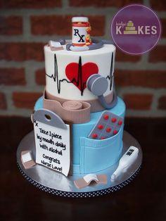 Nurse graduation cake by Karolyn's Kakes, LLC.