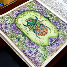Take a peek at this great artwork on Johanna Basford's Colouring Gallery! Adult Coloring Book Pages, Coloring Book Art, Colouring Pages, Joanna Basford, Secret Garden Coloring Book, Johanna Basford Coloring Book, Colored Pencil Techniques, Colouring Techniques, Color Pencil Art