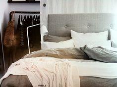 Ikea Linblomma King Duvet Cover Natural Color 100% Linen EUC Duvet Only