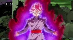 Black Transforming into Super Saiyan Rose.