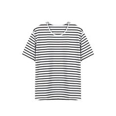 Yoins Stripped T-shirt ($15) ❤ liked on Polyvore featuring tops, t-shirts, black, shirts & tops, distressed shirt, oversized t shirt, oversized tee, destroyed t shirt and oversized shirt