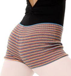 Adult Elasta-knit Multi Striped Hipster Short - Style Number: NTGSHRT