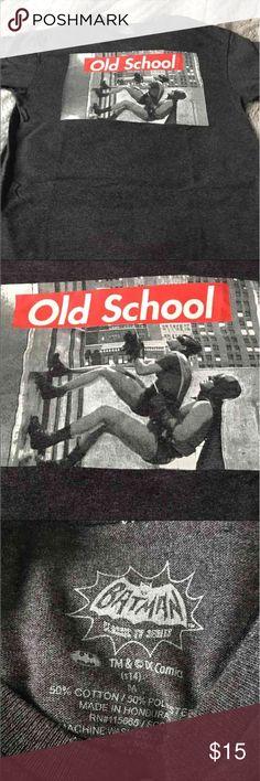 Batman Oldschool Tee 50% Cotton 50% Polyester  D.C. comics. B5 DC Comics  Shirts Tees - Short Sleeve
