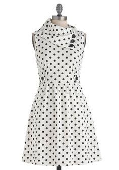 Coach Tour Dress in Dots, #ModCloth