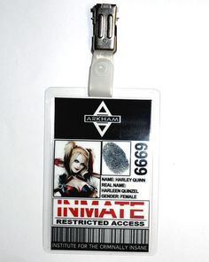 Batman Arkham Asylum Harley Quinn ID Badge Cosplay Prop Costume Novelty New Year in Clothes, Shoes & Accessories, Fancy Dress & Period Costume, Fancy Dress   eBay