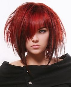 A medium brown straight choppy coloured Modern Layered Rock-Chick hairstyle by Web Collections