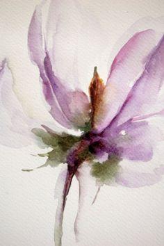 pintura original de la acuarela de flores de lavanda por CanotStop: