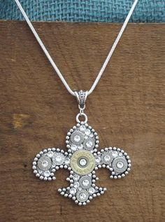 Bullet Jewelry  Fleur de Lis BLING Bullet Silver by RicochetRounds, $54.95
