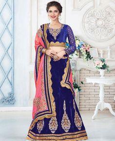#hey @a1designerwear . Item code: APRL7532 . Buy Gorgeous Royal Blue #Lehenga #Choli #onlineshopping with #worldwideshipping at  https://www.a1designerwear.com/gorgeous-royal-blue-lehenga-choli-2   . #a1designerwear #a1designerwear . #instashop #worldwide #thankyou