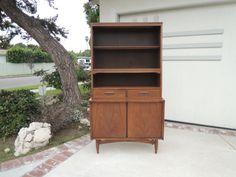 DANISH MODERN Display Cabinet in Walnut Finish by HouseCandyLA #losangeles #furniture #vintage #Venice #midcenturymodern #Lincoln&Rose #Abbotkinney #freedelivery