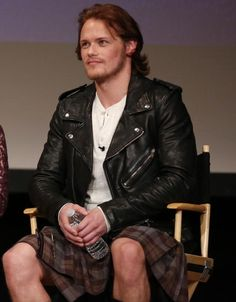 Outlander Invades LA 11.Jan.2014.             Sam /Jamie. He was so dreamy that day... <3
