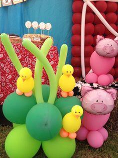 Balloons at a Farm Party #farm #party