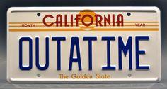 Back to the Future OUTATIME California License Plate