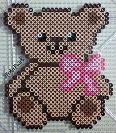 Teddy Bear perler beads by PerlerPixie