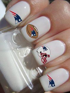 #newenglandpatriots #football #nfl #nails #etsy