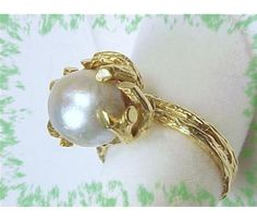 MING'S 14K Gold ~ Baroque Pearl Ring