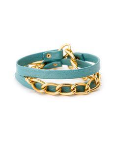 gorjana 'Graham' 18K Plated Leather Wrap Bracelet