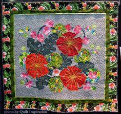 "In My Garden, 48 x 46"", by Phyllis Goffe"
