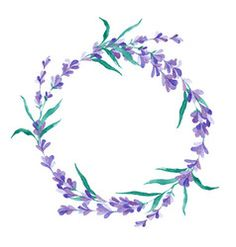 Watercolor lavender wreath vector image on VectorStock Tatoo Floral, Lilac Tattoo, Lavender Tattoo, Wreath Tattoo, Necklace Tattoo, Free Vector Images, Vector Free, Circle Tattoos, Lavender Wreath