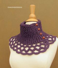 Wool Scarflette-Royal Purple