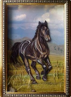 Quilled horse. Now that is Art.