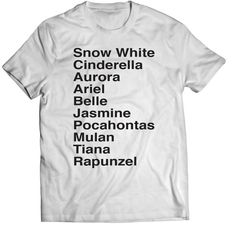 Disney Princess names Shirt by AtTheDisko on Etsy