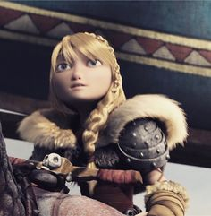 Astrid watching Hiccup leave her sight