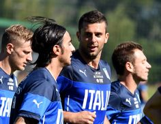 Thiago Motta of Italy during a training session on June 17 2014 in...