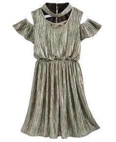 bc3320f0dee Bonnie Jean Metallic Boudre Dress, Big Girls & Reviews - Dresses - Kids -  Macy's